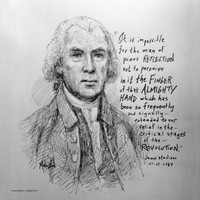 James Madison - Almighty God - 12x12 Litho, signed and numbered (100)