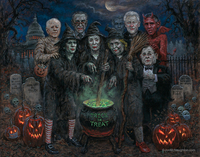 Trick or Treat - 16x20 Giclee Canvas Print, Signed and Numbered Edition (200)