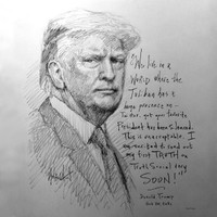 First Truth Sketch - 12x12 Inch Litho, Limited Edition, Signed and Numbered (100)