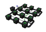 Alien Hydroponics 12 Pot  RDWC Pro 34 litre 75cm centres