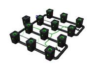 Alien Hydroponics 12 Pot  RDWC Pro 55 litre 100cm centres
