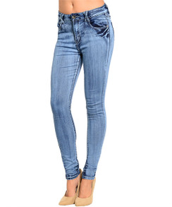 Faded Wash Stretch Denim Pant