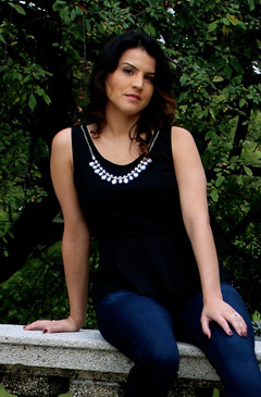 Black Slim Fit Peplum Top