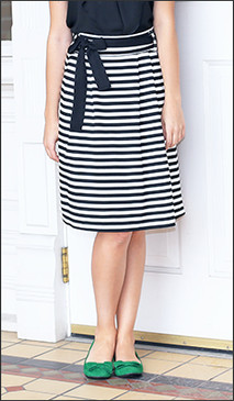Black/White Horizontal Stripe Skirt