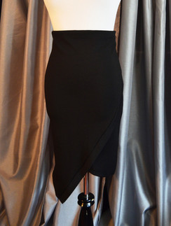 Faux Wrap Pencil Skirt