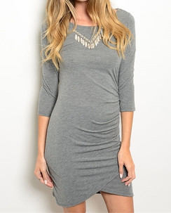 Gray Bodycon Fit Dress