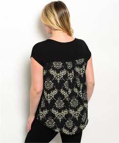 Relaxed Fit Short Sleeve Top