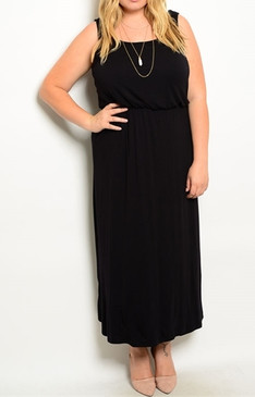 Sleevless Maxi Dress - Black