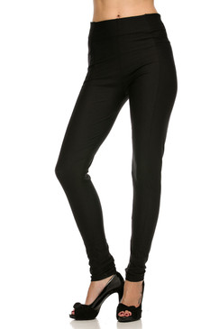 Black Full Length Ankle Leggings
