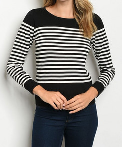 Black/White Stripe Sweater