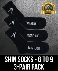 Take Flight Shin Socks - 6-9 (3 Pack)