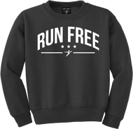 Our Run Free Crewneck in the black version.