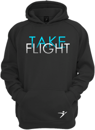 Our Take Flight Hoodie in our black version.
