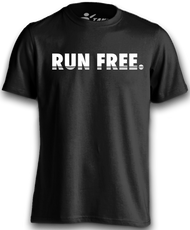 The newest version of our iconic Run Free Tee! Run Free 3 in black!