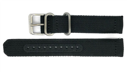 Seiko 5 Snk809 Snk809k2 Replacement Black Fabric Watch Strap