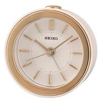 Seiko Bedside Beep Sound Alarm Clock QHE156W - Classy White/Gold