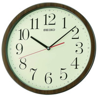 Seiko Classic Wall Clock QXA737B - Wood Effect