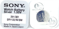Sony 381/391 (SR1120SW/SR1120W) 1.55v Silver Oxide (0%Hg) Mercury Free Watch Battery - Made in Japan