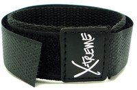 X-Treme 20mm Wrap Around Nylon Watch Band Strap Gents Men's - Black
