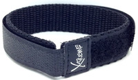 X-Treme 16mm Wrap Around Nylon Watch Band Strap Ladies Women's - Black