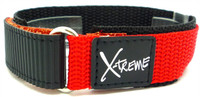 X-Treme 20mm Tough Secure Hook & Loop Nylon Watch Band Strap Gents Men's with Ring End - Red