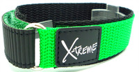 X-Treme 20mm Tough Secure Hook & Loop Nylon Watch Band Strap Gents Men's with Ring End - Green