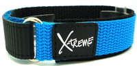 X-Treme 20mm Tough Secure Hook & Loop Nylon Watch Band Strap Gents Men's with Ring End - Light Blue