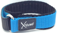 X-Treme 16mm Tough Secure Hook & Loop Nylon Watch Band Strap Ladies Women's with Ring End - Light Blue