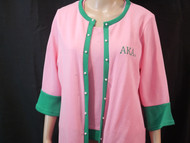2 PCS SWEATER SET WITH PEARL ON COAT RUN TRU TO SIZE SMALL -4XL