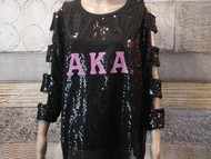 BLACK SEQUIN RUNS VERY SMALL ORDER 2 SIZES UP ON SALE $30.00!!! MEDIUM TO  4XL