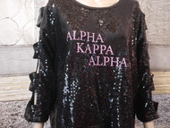 AKA SEQUIN WITH WORDS SPELLED OUT RUNS SMALL 30.00 ON SALE!!!!