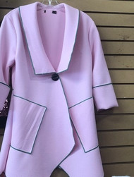 PINK  AKA SWING COAT  ON SALE! RUNS BIG ORDER A SIZE DOWN!