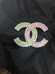 AKA CHANNEL INSIRED PINK AND GREEN BROACH