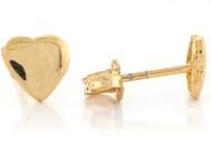 Aretes Lindos Tamano 0.6cm De Corazon Para Ninas En Oro Amarillo Real De (OM#6652)