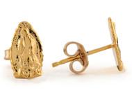 Aretes De 0.9cm Religiosos Con Imagen De La Virgen Maria De Guadalupe En Oro De (OM#8775)