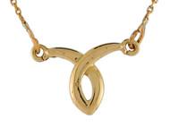 Collar Pequeno Unico De Lujo Para Dama De Alto Brillo En Oro Amarillo De (OM#10001)