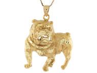 Colgante Diamantado De Perro Canino En Oro Real De (OM#10676)
