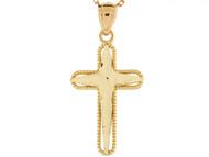 Colgante Religioso Catolico Diamantado En Oro Solido De (OM#3120)