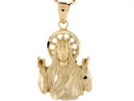 Colgante Religioso Imagen De Jesus Diamantado En Oro Real De (OM#3735)