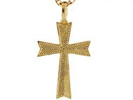 Colgante Encantador De Cruz En Oro Amarillo Real De (OM#3947)