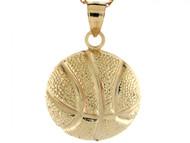 Dije Colgante De Deporte Baloncesto Basketball En Oro Real Amarillo De (OM#3971)