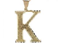 Colgante De Inicial Letra I Grande 4.14cm De Largo En Oro Real Amarillo De (OM#4512)