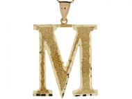 Colgante De Inicial Letra I Grande 4.14cm De Largo En Oro Real Amarillo De (OM#4514)