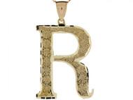 Colgante De Inicial Letra I Grande 4.14cm De Largo En Oro Real Amarillo De (OM#4518)