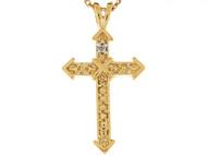 Colgante Deslizante Pequeno Con Estilo De 2.5cm Con Diamante En Oro Real De 14k (OM#6251)