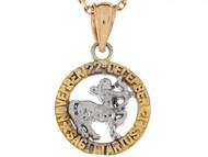 Dije Colgante Natal De Zodiaco Sagitario De 1.8cm En Oro De Dos Tonos (OM#6486)