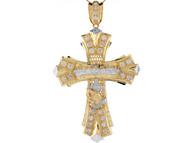 Colgante De 9.6cm Cruz Con Ultima Cena Y Manos En Oracion En Oro 2 Tonos (OM#8423)
