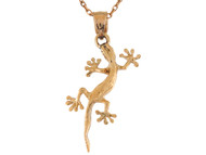 Colgante Lindo De Geco Lagarto Reptil Animal Naturaleza En Oro Amarillo De (OM#9604)