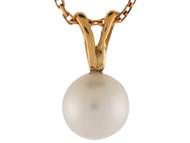 Colgante Deslizante De Lujo Acentuado Con Perla De Agua Dulce En Oro De (OM#9856)
