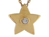 Colgante Para Dama De Estrella Con Circonita Blanca Y Alto Brillo En Oro De (OM#9986)